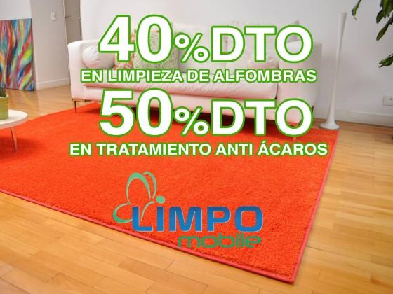 LIMPOMOBILE. LIMPIEZA DE ALFOMBRAS + TRATAMIENTO ANTI ÁCAROS